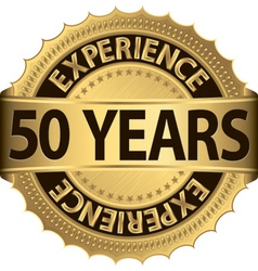 Anniversary experience label vector