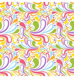 Colorful summer seamless pattern with floral vector