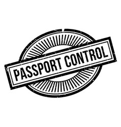Passport control rubber stamp vector