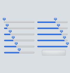 Progress loading installation bar web interface vector