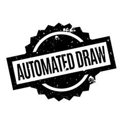 Automated draw rubber stamp vector