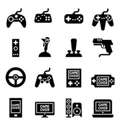 Video game controller joystick gamepad icon vector