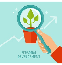 Personal development concept in flat style vector