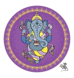 Lord ganesha hand drawn vector