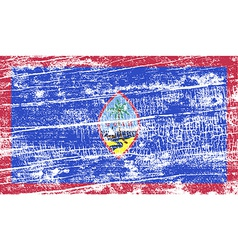 Flag of guam with old texture vector
