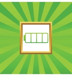 Empty battery picture icon vector