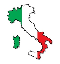 Italy map3 vector