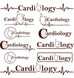 Symbols of cardiology vector