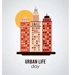 Urban life design vector