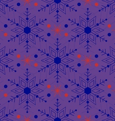 Pattern colored snowflakes vector