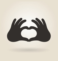 Hand Gesture a Sign of Heart vector image