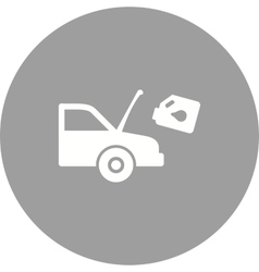 Car and oil can vector