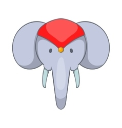 Head of decorated elephant icon cartoon style vector