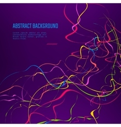 Abstract curly line background vector image