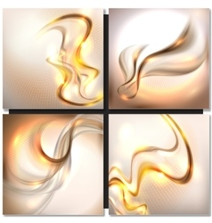 Abstract golden wave background vector