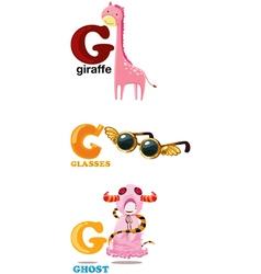 Alphabet letter - g vector