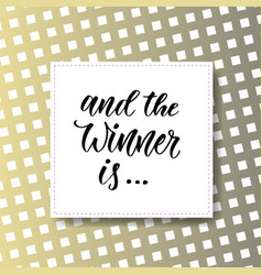 And the winner is giveaway banner for social vector