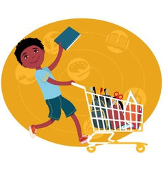 Back to school shopping vector