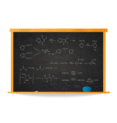 basic chemical reaction equations and formulas on vector image