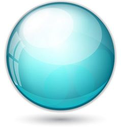 Blue ball vector