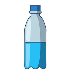 Bottle of water icon cartoon style vector
