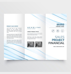 Clean minimal tri-fold brochure flyer leaflet vector