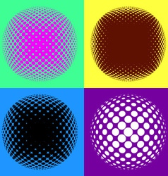 Colorful halftone design elements vector image vector image