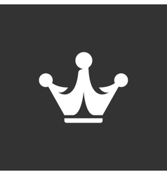 Crown icon logo element for template vector
