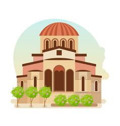 Cultural center of byzantium city of greece vector