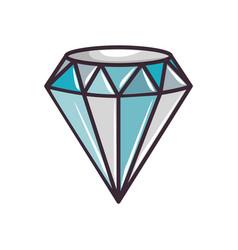 Cute blue diamond vector
