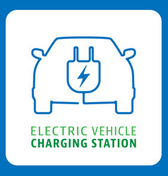electric vehicle charging station symbol vector image