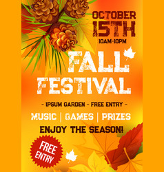 Fall harvest festival autumn party banner design vector