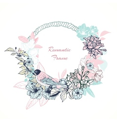 Gentle romantic frame vector