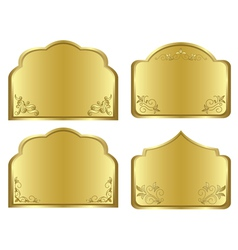 gold frames with floral decoration vector image vector image