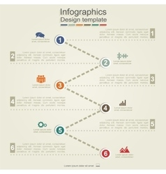 Infographic report template with arrows and icons vector image vector image