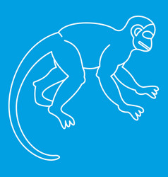 Japanese macaque icon outline style vector