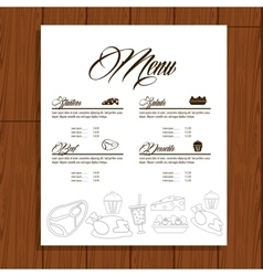Menu restaurant kitchen icon graphic vector
