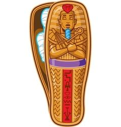 Mummy sarcophagus vector