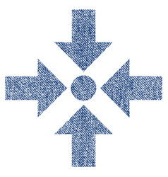 Shrink arrows fabric textured icon vector