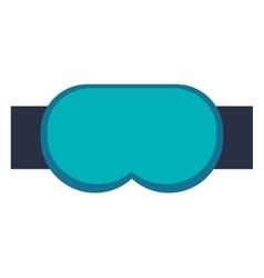 ski goggles icon vector image