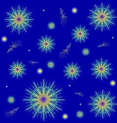 Snowflakes on a blue background Winter background vector image vector image
