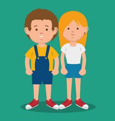 Standing kids icon vector