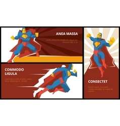 Superhero banners set vector image