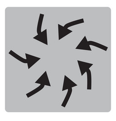swirl arrows interface toolbar button vector image vector image