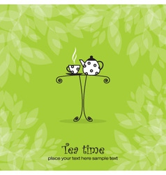 Tea card vector
