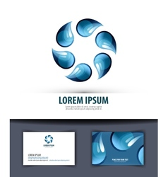 water Logo icon emblem template business card vector image vector image