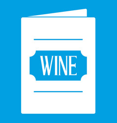 Wine list icon white vector