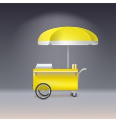 Yellow cart for sale lemonade vector image