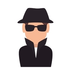 spy man agent vector image