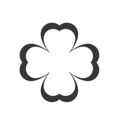 Clover leaf silhouette vector